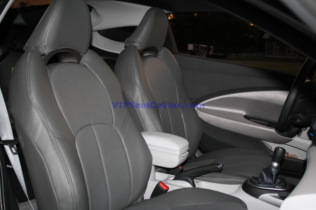 Clazzio 310422gry Grey Leather Front and Rear Row Seat Cover for Honda Civic 4 Door DX-VP//LX//LX-S