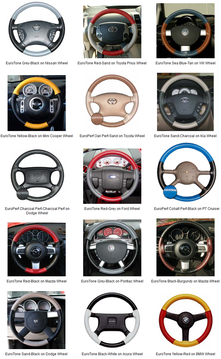 FOR TOYOTA TACOMA 06-10 PERF LEATHER STEERING WHEEL COVER CHOSEN COLOUR 2 STIT